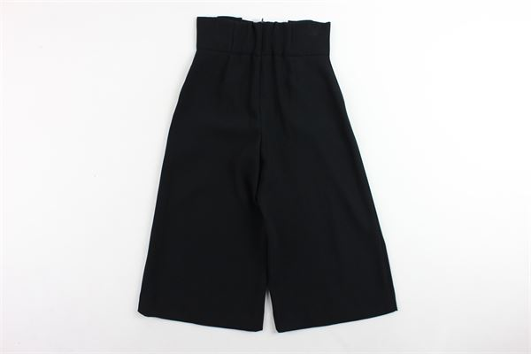 pantalone vita alta tinta unita a palazzo ELISABETTA FRANCHI | Pantaloni | EFPA18NERO