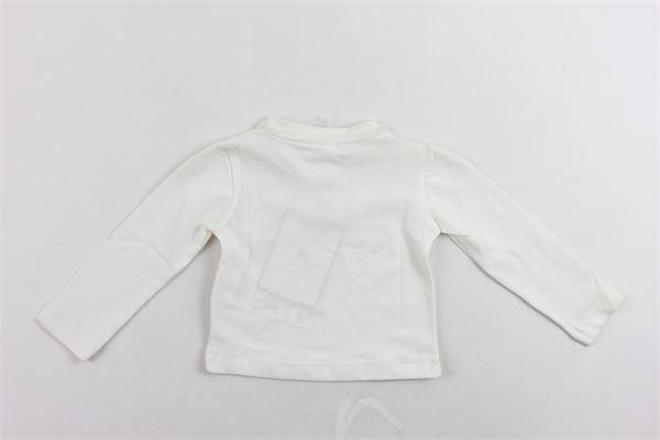 shirt manica lunga tinta unita con stampa ELISABETTA FRANCHI | Shirts | EGTS01BIANCO