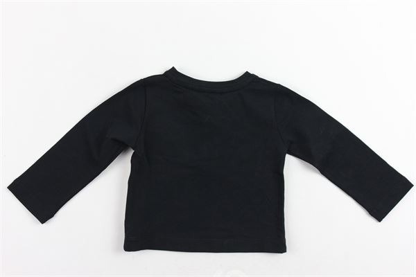 shirt manica lunga in cotone tinta unita con stampa ELISABETTA FRANCHI | Shirts | EGTS04NERO