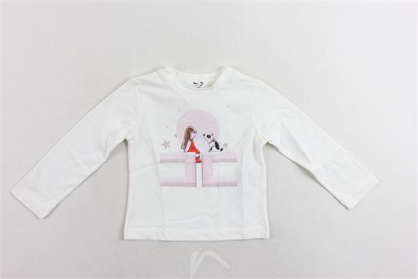 shirt manica lunga tinta unita con stampa ELISABETTA FRANCHI | Shirts | EGTS05JE95BIANCO
