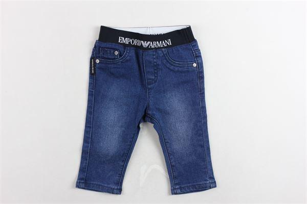 jeans elastico in vita tinta unita EMPORIO ARMANI | Jeans | 6GHJ074DEKZBLU