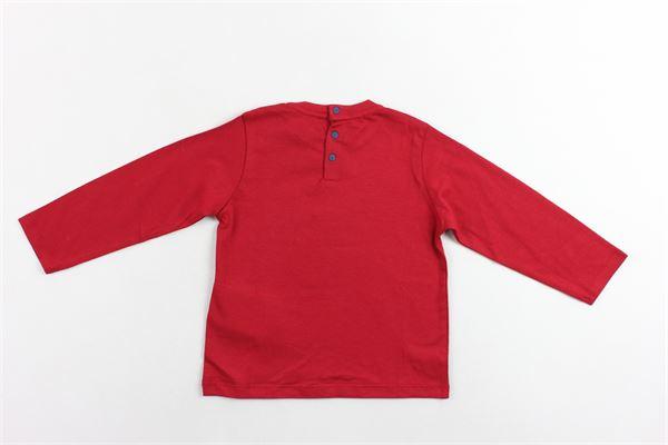 shirt manica lunga in cotone tinta unita con stampa EMPORIO ARMANI | Shirts | 6GHT091J00ZROSSO