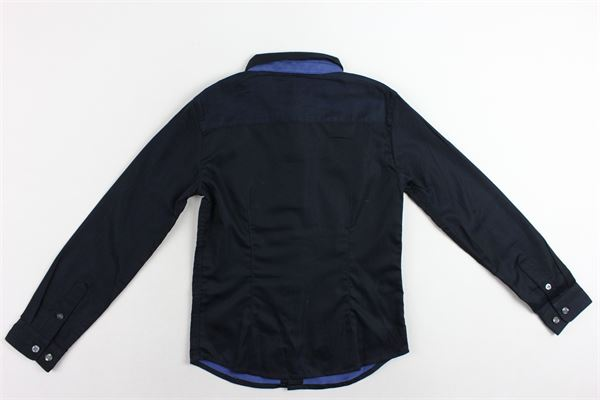 camicia manica lunga tinta unita con logo EMPORIO ARMANI | Camicie | 6Z4C091NUUZBLU