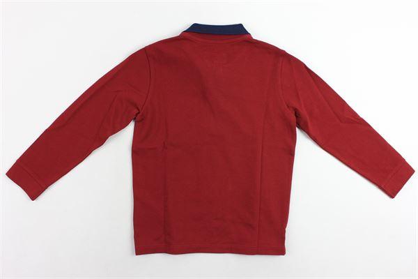 polo manica lunga tinta unita con logo EMPORIO ARMANI | Polo | 6Z4F161J0SZBORDEAU