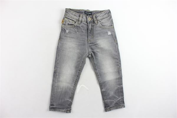 jeans 5 tasche tinta unita con strappi e girovita regolabile EMPORIO ARMANI | Jeans | 6Z4J04GRIGIO