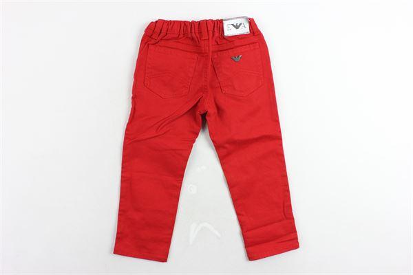 pantalone 5 tasche tinta unita girovita regolabile EMPORIO ARMANI | Pantaloni | 6ZHJ024NGGZROSSO