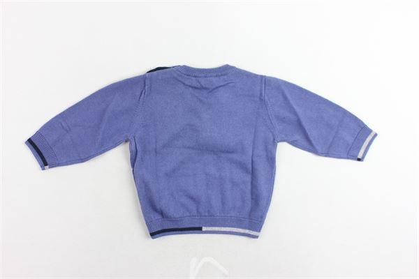 maglione girocollo tinta unita con logo EMPORIO ARMANI | Maglie | 6ZHM51AM00ZBLUETTE