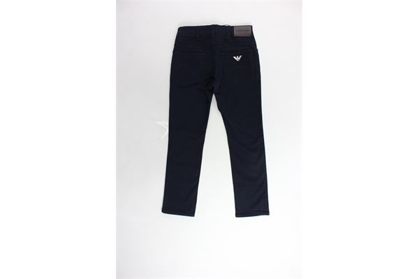 pantalon 5 tasche tinta unita girovita regolabile EMPORIO ARMANI | Pantaloni | 8N4J064NJJZBLU