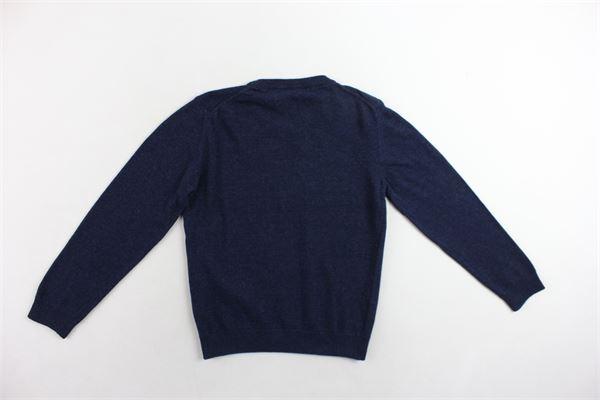 maglione girocollo tinta unita con logo EMPORIO ARMANI | Maglie | 8NAMA1BLU