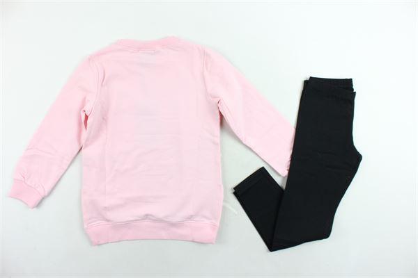 completo tuta felpa lunga più leggins in contrasto EVERLAST | Completi | 022023ROSA