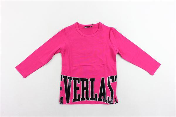 shirt cotone caldo tinta unita con stampa EVERLAST | Shirts | 022030FUCSIA