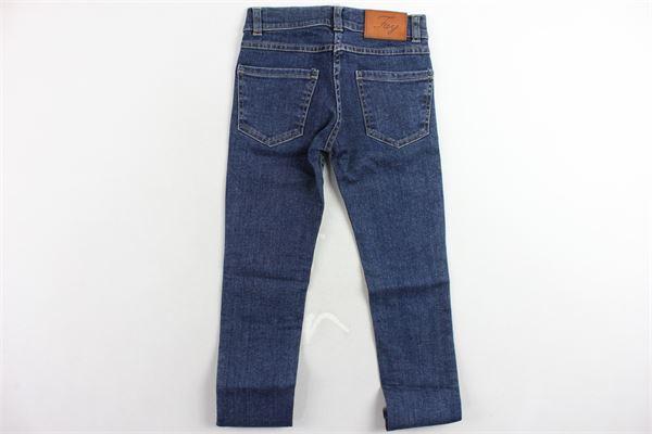 jeans 5 tasche tinta unita FAY | Jeans | 9-6650CA100620BLU