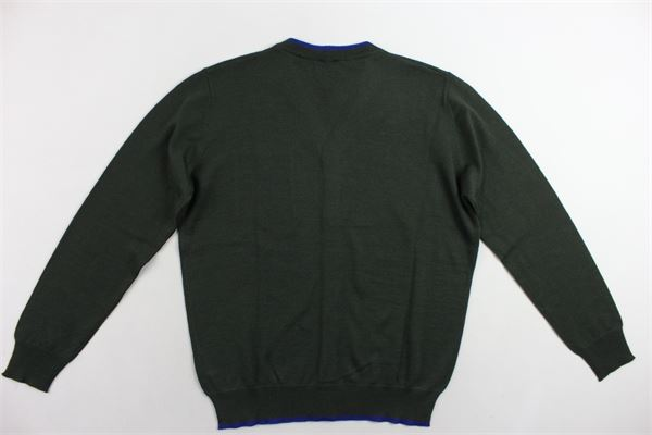 cardigan in lana manica lunga FAY | Maglie | NNHC1377530VERDE
