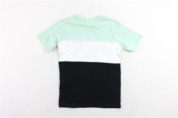 t-shirt mezza manica bicolore con stampa FILA | T-shirts | 687192MVERDE