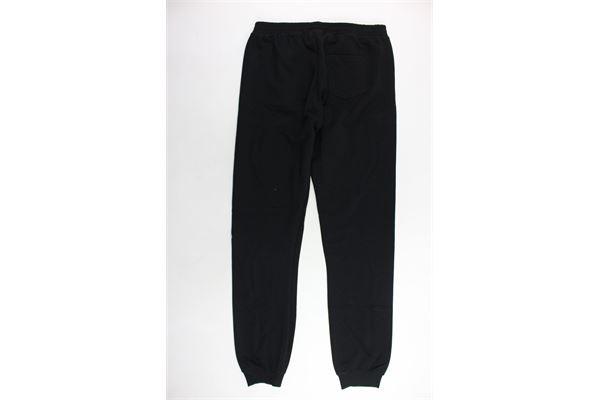 pantalone tuta felpato tinta unita con stampa FILA | Pantaloni | 687197MNERO