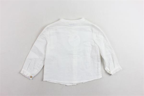 camicia collo coreano manica lunga tinta unita FINA EJERIQUE | Camicie | O18B2114BIANCO