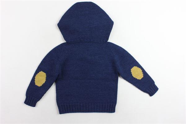 maglione in lana tinta unita con cappuccio FINA EJERIQUE | Maglie | O18B32H03BLU