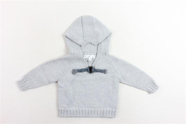 maglione in lana tinta unita con cappuccio FINA EJERIQUE | Maglie | O18B32H07GRIGIO