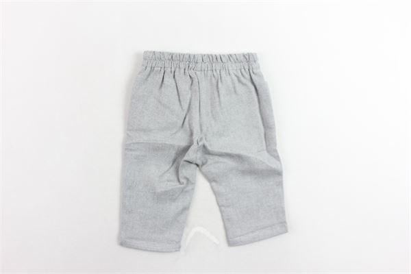 pantalone elastico in vita microfantasia FINA EJERIQUE | Pantaloni | O18B4736GRIGIO