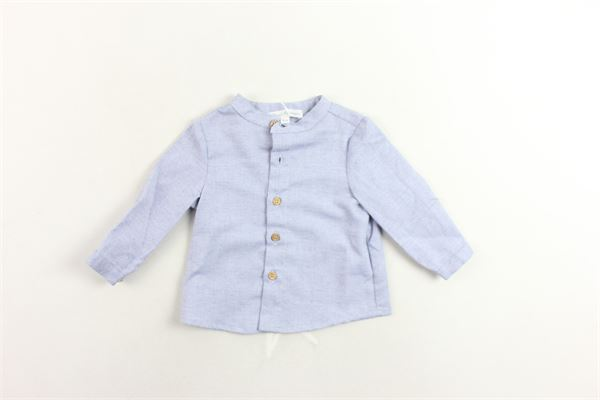 camicia collo coreano tinta unita FINA EJERIQUE | Camicie | O18B6444CELESTE