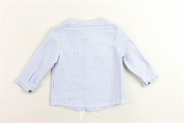 camicia collo coreano rigata FINA EJERIQUE | Camicie | O18B8555CELESTE