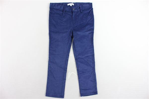 pantalone 5 tasche in velluto girovita regolabile FINA EJERIQUE | Pantaloni | O18S8024BLU