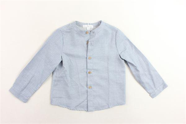 camicia collo coreano microfantasia FINA EJERIQUE | Camicie | O19B1545CELESTE