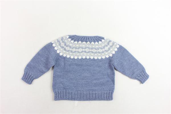 maglione in lana tinta unita con stampa FINA EJERIQUE | Maglie | O19B17H04CELESTE