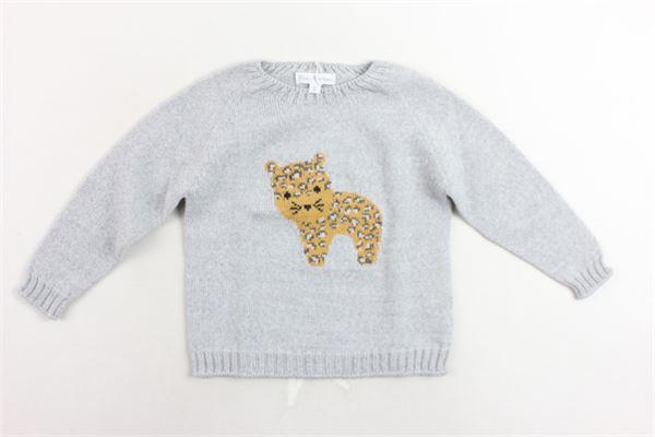 maglione in lana tinta unita con stampa FINA EJERIQUE | Maglie | O19B52H07GRIGIO