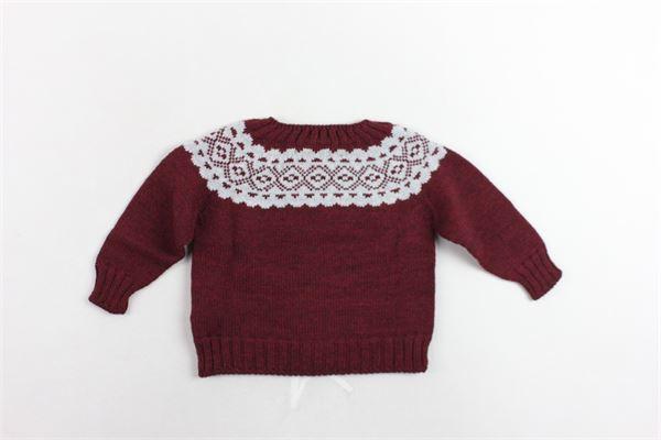 maglione in lana tinta unita con stampa FINA EJERIQUE | Maglie | O19B60H09BORDEAU