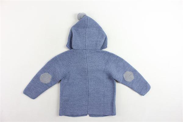 cardigan in lana tinta unita cpn cappuccio e pon pon FINA EJERIQUE | Maglie | O19B99H04BLU