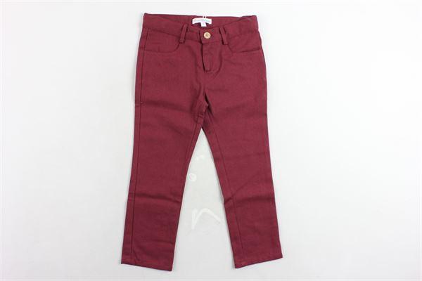 pantalone tinta unita 5 tasche girovita regolabile FINA EJERIQUE | Pantaloni | O19S6059BORDEAU