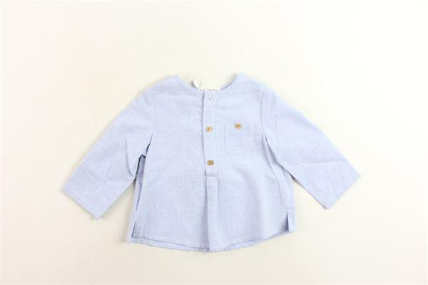 camicia svasata collo coreano tinta unita con taschino FINA EJERIQUE | Camicie | P19B0627CELESTE