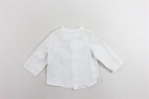 camicia collo coreano in lino tinta unita FINA EJERIQUE | Camicie | P19B6525BIANCO