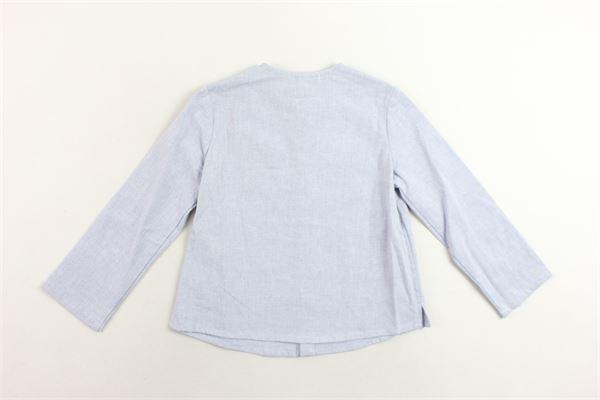 camicia collo coreano tinta unita con taschino FINA EJERIQUE | Camicie | P19B8087CELESTE