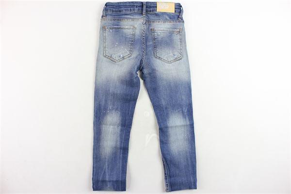 jeans 5 tasche girovita regolabile con strappi FORNARINA | Jeans | W19GOBASSOBLU