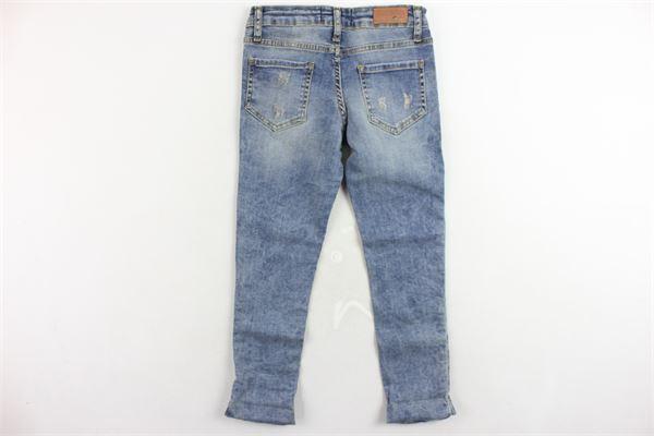 jeans 5 tasche con strappi girovita regolabile FRACOMINA | Jeans | FM18FWG1007AZZURRO