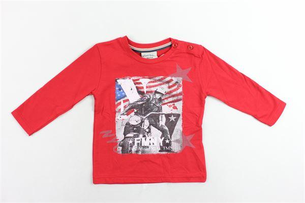 shirt manica lunga cotone caldo tinta unita con stampa bottoni alla spalla FRED MELLO | Shirts | 017293ROSSO