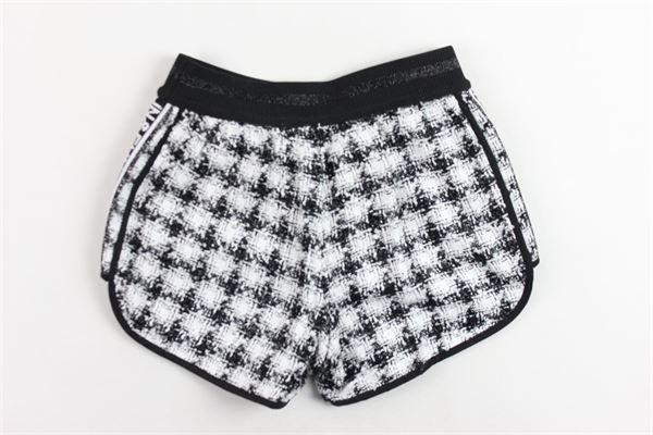 shorts elastico in vita profili lurex bicolore FUN & FUN | Shorts | FNBSO2088NERO