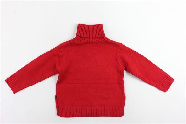 maglione collo alto tinta unita con stampa oversize FUN & FUN | Maglie | FNJSW2283ROSSO