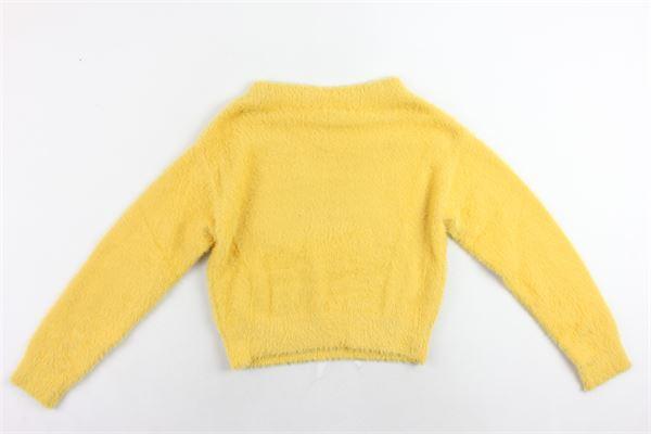 maglione mezzo collo tinta unita in pelliccia sintetica FUN & FUN | Maglie | FNJSW2314GIALLO
