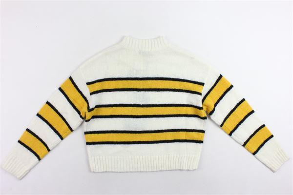 maglione mezzo collo rigato FUN & FUN | Maglie | FNJSW2755BIANCO