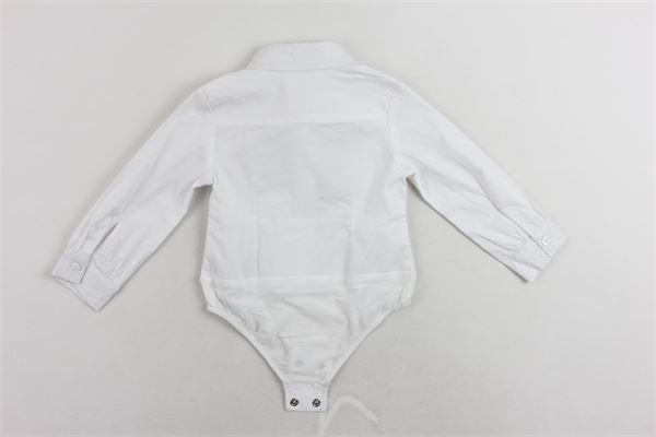 camicia body tinta unita con fiocco FUN & FUN | Camicie | FNNBD0187BIANCO