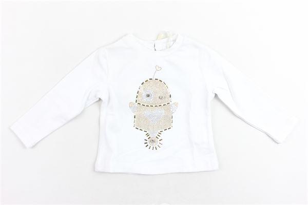 shirt manica lunga tinta unita con stampa FUN & FUN | Shirts | FNNTS0126BIANCO