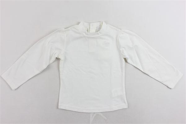 lupetto mezzo collo cotone caldo tinta unita con stampa FUN & FUN | Shirts | FNNTS2292BIANCO
