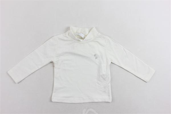 lupetto mezzo collo cotone caldo tinta unita con stampa FUN & FUN | Shirts | FNNTS2942BIANCO