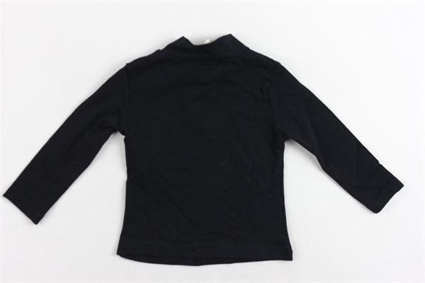 lupetto mezzo collo cotone caldo tinta unita con stampa FUN & FUN | Shirts | FNNTS2942NERO