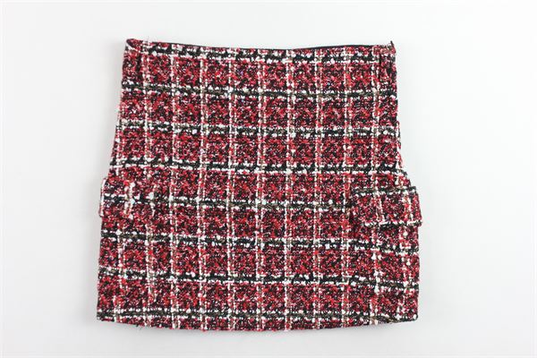 gonna in lana microfantasia con zip GAELLE | Gonne | 2741G0067ROSSO