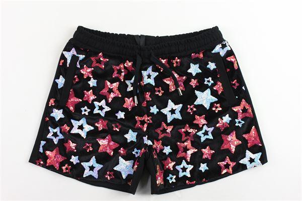 short in felpa elastico in vita con paillettes GAELLE | Shorts | 2741P0100NERO