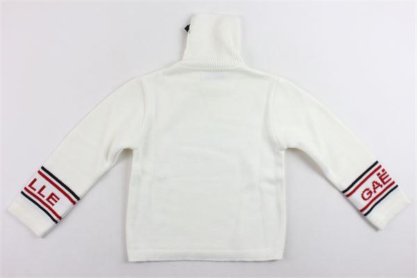 maglione tinta unita collo alto con profili gaelle GAELLE | Maglie | 2741W0021BIANCO